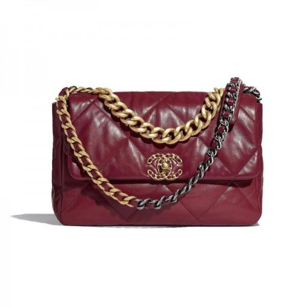 Chanel Grained Çanta Kadın Bordo