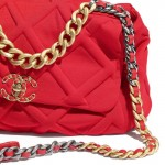 Chanel Grained Çanta Kadın Kırmızı