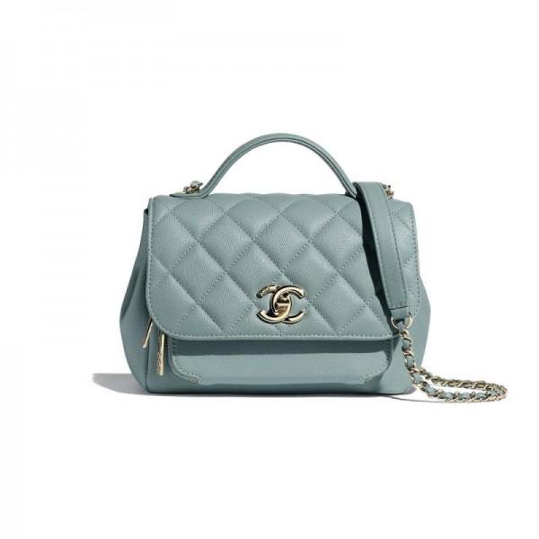 Chanel Grained Çanta Kadın Mavi