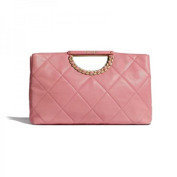 Chanel Grained Çanta Kadın Pembe