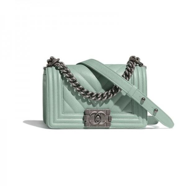 Chanel Grained Çanta Kadın Turkuaz