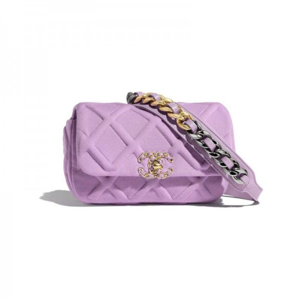 Chanel Jersey Çanta Kadın Lila