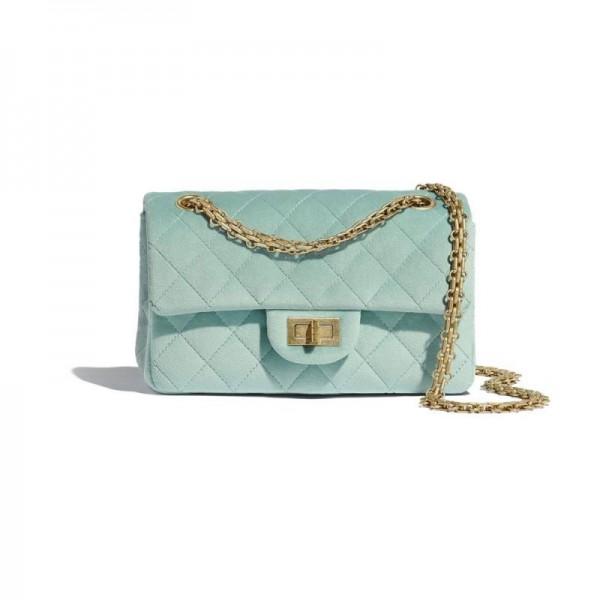 Chanel Klasik Çanta Kadın Mavi