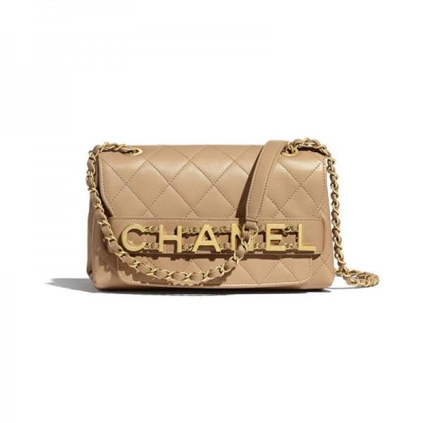 Chanel Logo Çanta Kadın Bej