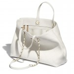 Chanel Logo Çanta Kadın Beyaz