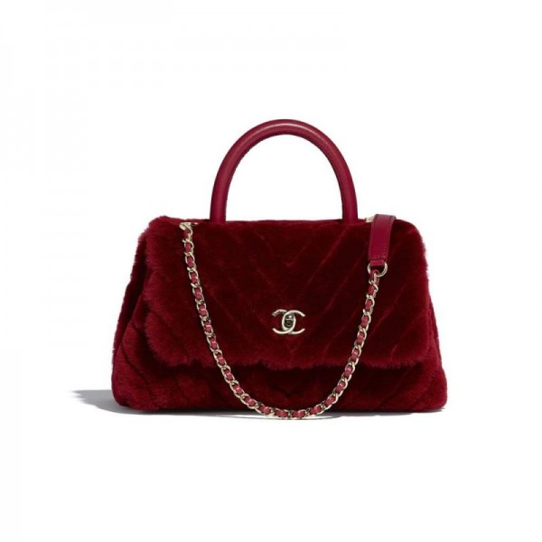 Chanel Logo Çanta Kadın Burgonya