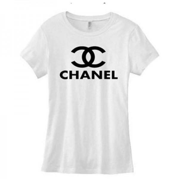 Chanel Logo Tişört Beyaz Kadın
