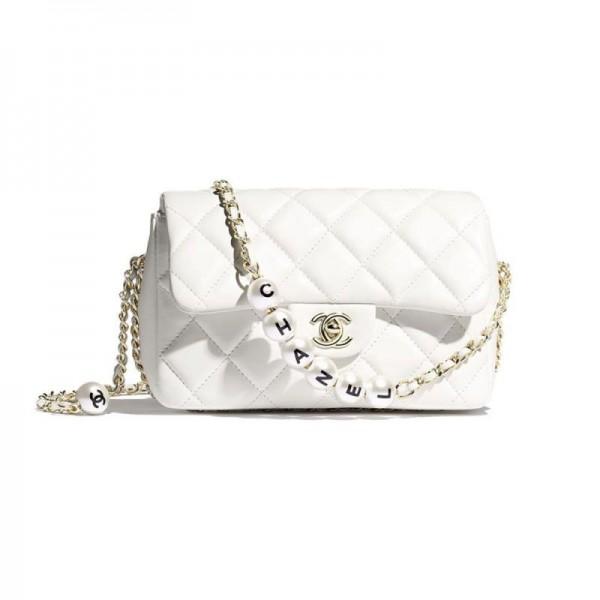 Chanel Pearls Çanta Kadın Beyaz