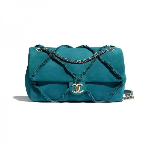 Chanel Suede Çanta Kadın Mavi
