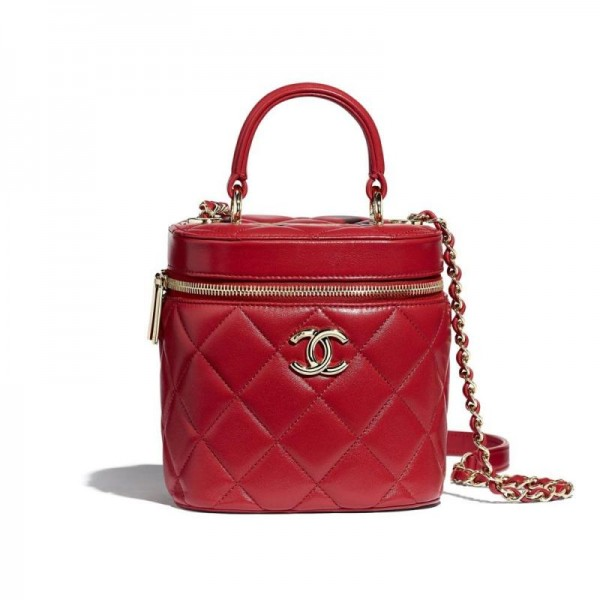 Chanel Vanity Çanta Kadın Kırmızı