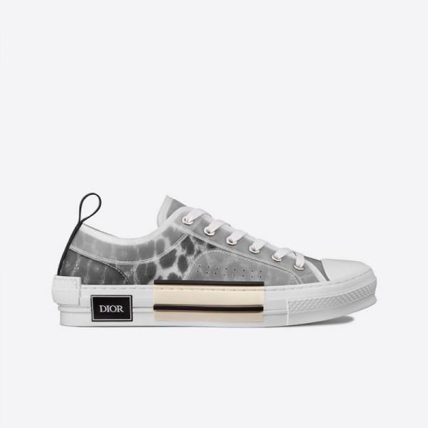 Dior B23 Leopard Ayakkabı Erkek Gri