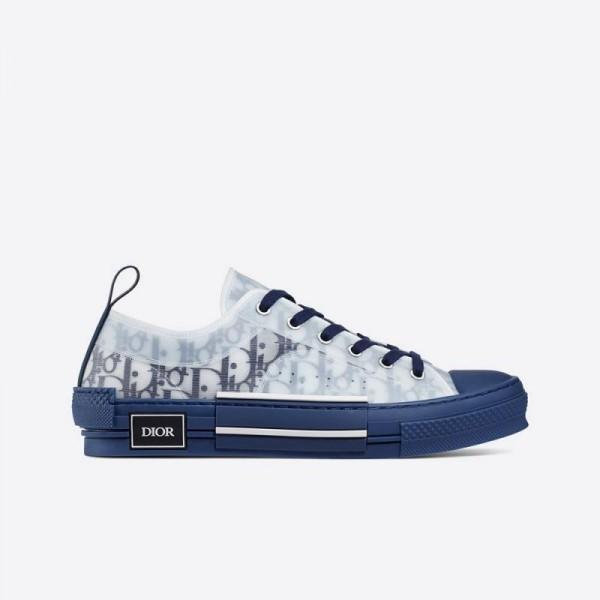 Dior B23 Oblique Ayakkabı Erkek Mavi