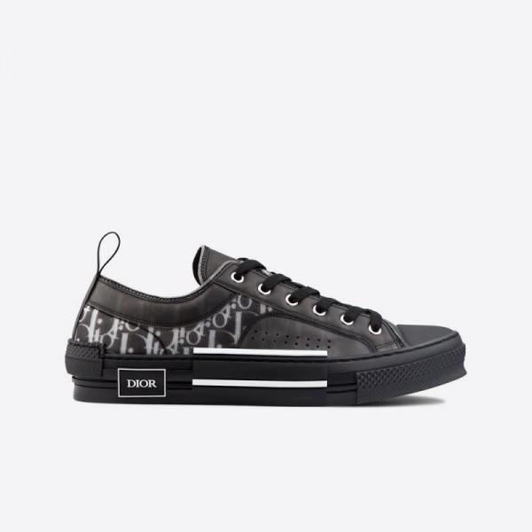 Dior B23 Oblique Low Ayakkabı Erkek Siyah