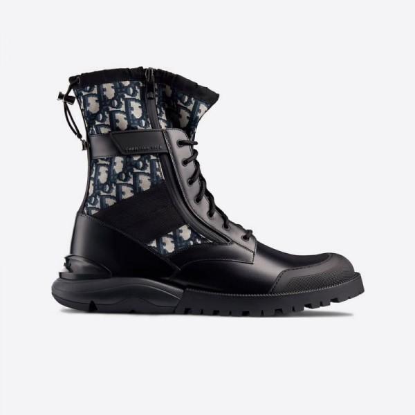 Dior Calfskin Bot Ayakkabı Erkek Siyah