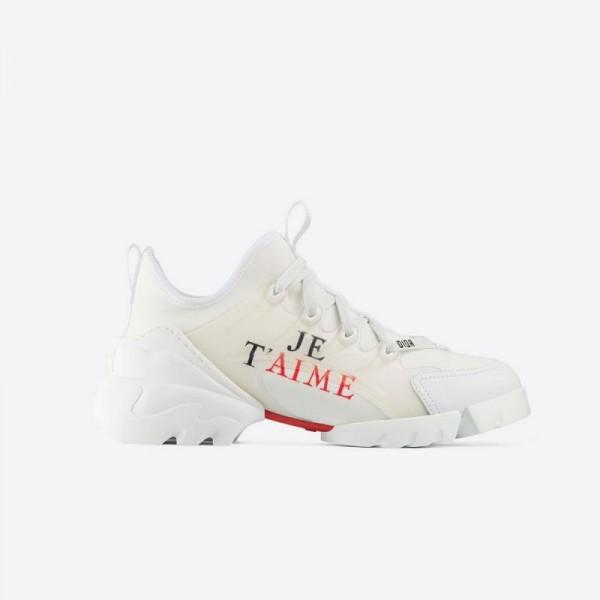 Dior D Connect Neoprene Ayakkabı Kadın Beyaz