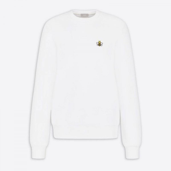 Dior Kaws Bee Sweatshirt Erkek Beyaz