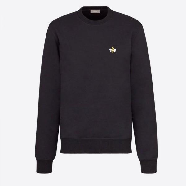 Dior Kaws Bee Sweatshirt Erkek Siyah