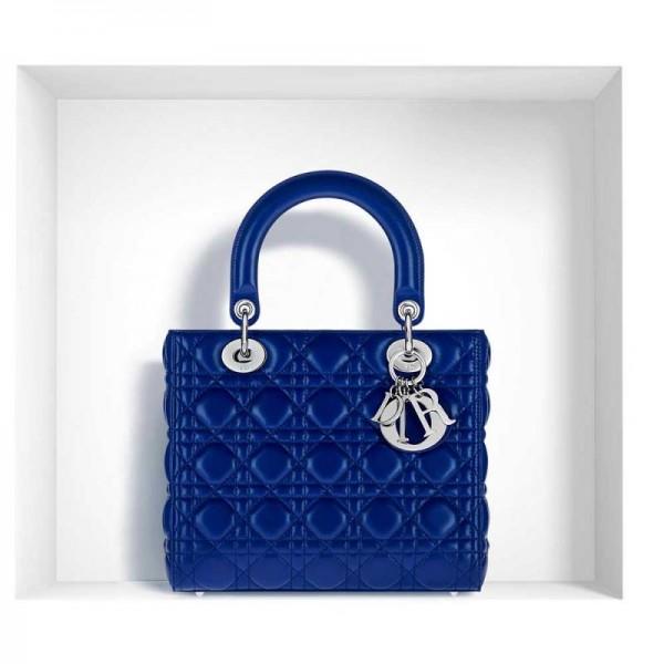 Dior Lady Dior Çanta Lacivert Kadın
