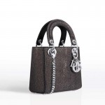 Dior Lady Dior Mini Çanta Işıltılı Deri Kadın