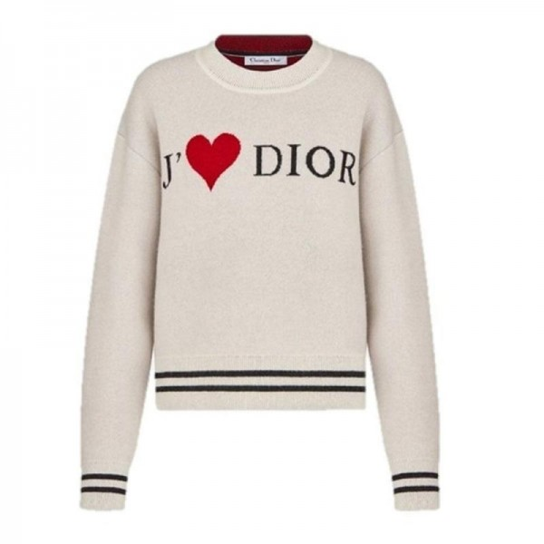 Dior Logo Sweatshirt Kadın Beyaz