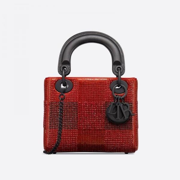Dior Mini Lady Çanta Kadın Kırmızı