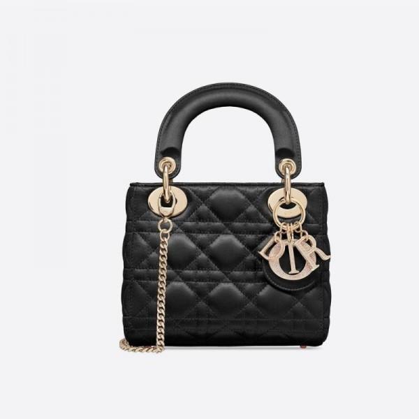 Dior Mini Lady Çanta Kadın Siyah