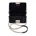 Dior Miss Dior Promenade Mini Çanta Parlak Siyah   Altın Kadın