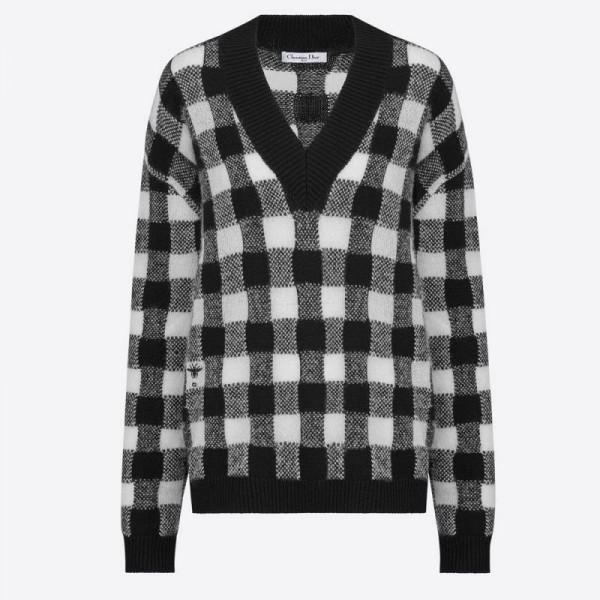 Dior Motif Sweatshirt Kadın Siyah
