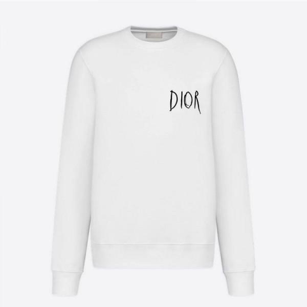 Dior Raymond Sweatshirt Erkek Beyaz
