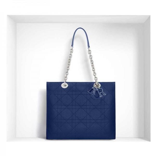 Dior Ultradior Grained Çanta Mavi Kadın