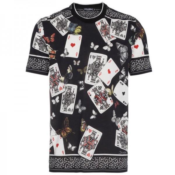 Dolce Gabbana Deck Tişört Siyah Erkek