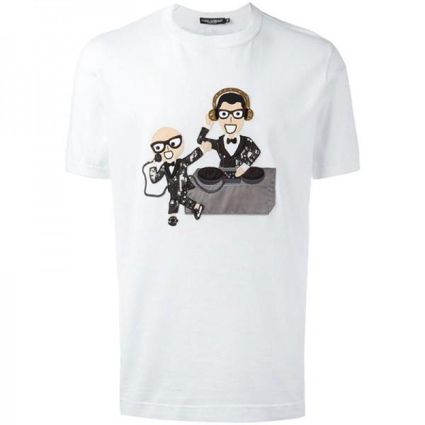 Dolce Gabbana Designers Tişört Beyaz Erkek
