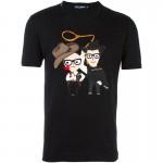 Dolce Gabbana Designers Tişört Siyah Erkek