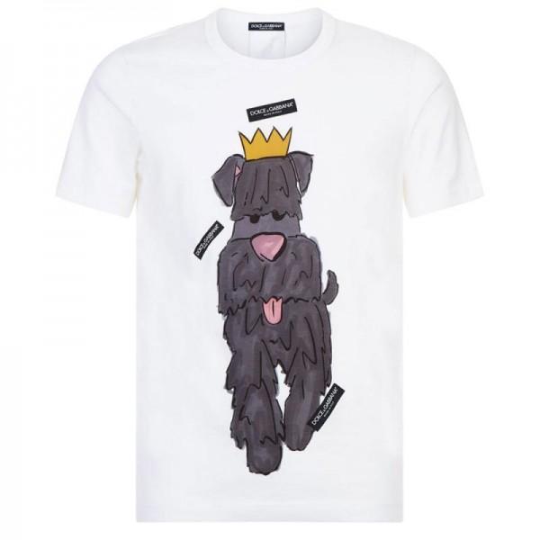 Dolce Gabbana Dog Tişört Beyaz Erkek