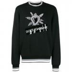 Dolce Gabbana Heart Sweatshirt Erkek Siyah