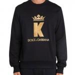 Dolce Gabbana King Sweatshirt Erkek Siyah