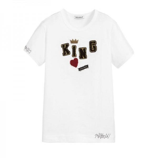 Dolce Gabbana King Tişört Tişört Erkek
