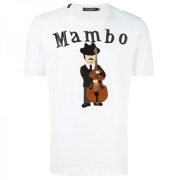 Dolce Gabbana Mambo Tişört Beyaz Erkek