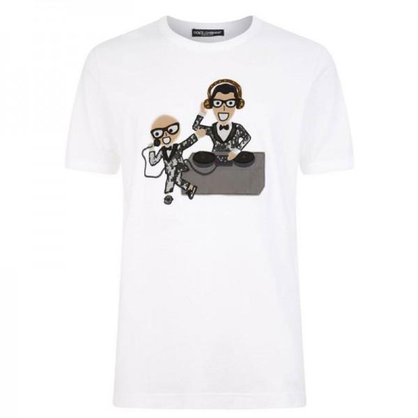 Dolce Gabbana Musical Tişört Beyaz Erkek