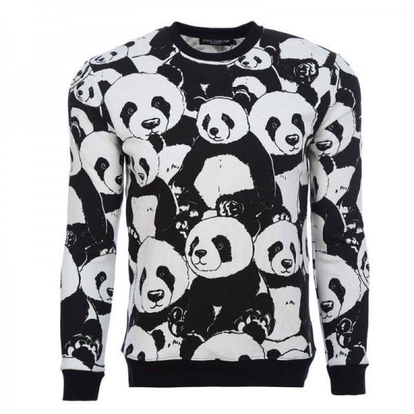 Dolce Gabbana Panda Sweatshirt Erkek Siyah