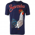 Dolce Gabbana Rooster Tişört Mavi Erkek