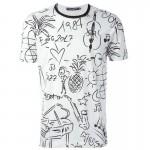 Dolce Gabbana Tropical Tişört Beyaz Erkek