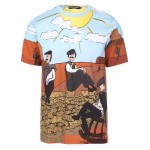 Dolce Gabbana Western Tişört Renkli Erkek