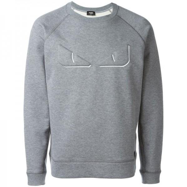 Fendi 3D Bag Bugs Sweatshirt Gri Erkek