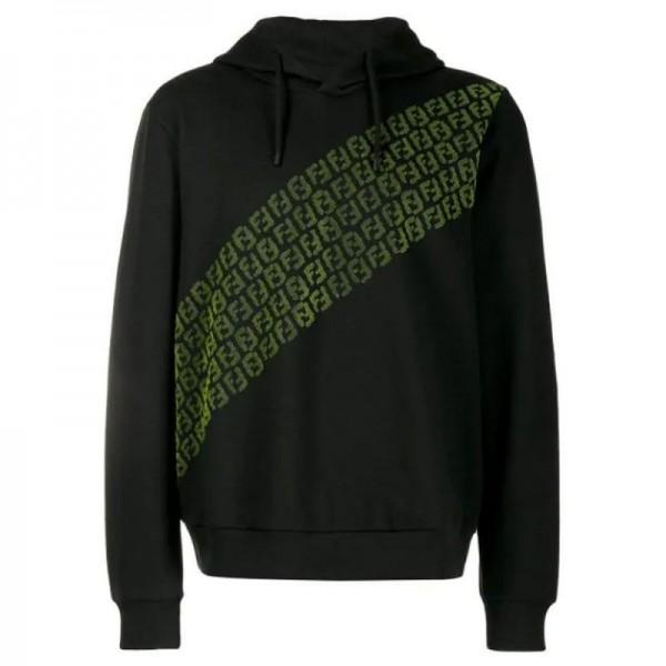 Fendi Art Sweatshirt Erkek Siyah