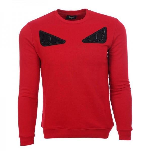 Fendi Bag Bugs Sweatshirt Erkek Kırmızı