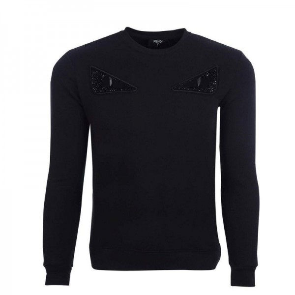 Fendi Bag Bugs Sweatshirt Erkek Siyah