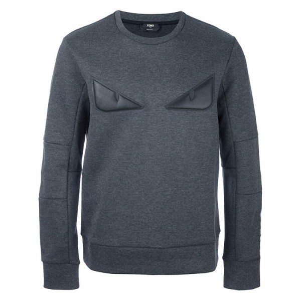 Fendi Bag Bugs Sweatshirt Gri Erkek