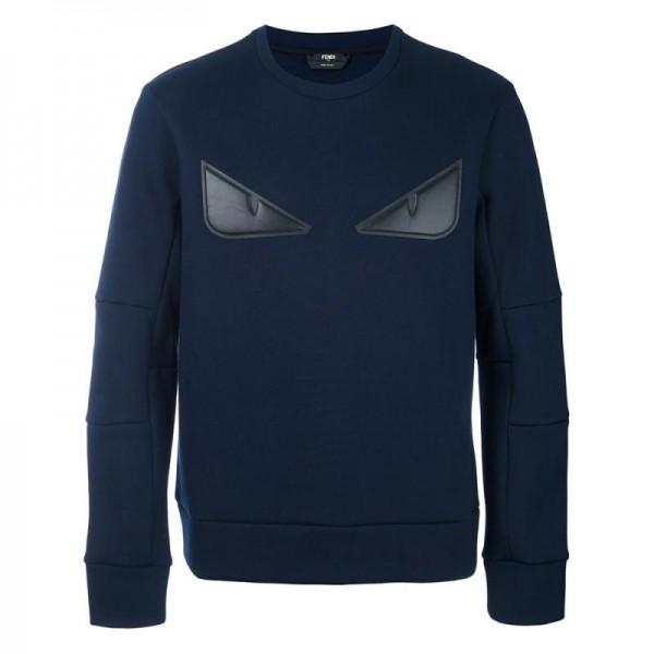 Fendi Bag Bugs Sweatshirt Lacivert Erkek