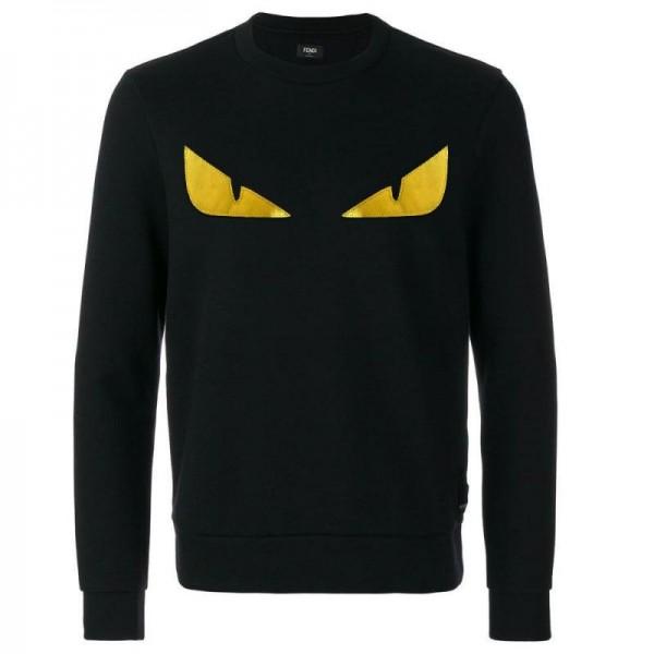 Fendi Bag Bugs Sweatshirt Siyah Erkek